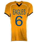 EAGLES-6-6-EAGLES-6-6 - Custom Heat Pressed Youth Tackle Football Jerseys - 1303 0BFD81CEAC80