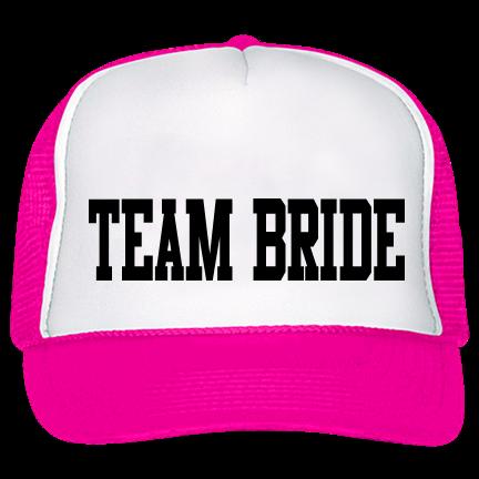 f6b9bce8ba2 team bride - Trucker Hat 39-169 - Custom Heat Pressed - CustomPlanet.com