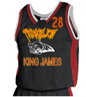 KING-JAMES-28 DISCONTINUED Womens Basketball Jersey - Jammer Series - Teamwork Athletic - 1439
