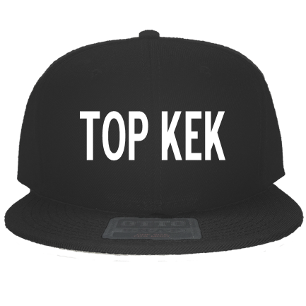 Top Kek Snapback Flat Bill Hat 125 978 Custom Heat Pressed