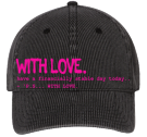 withLOVE1 - Custom Heat Pressed Low Profile Otto A-Flex Stretchable Washed Denim Otto Cap 94-613 (S/M)) 2BE676287EFB