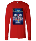 KU 14 STRAIGHT & 5 TIME CHAMPS - Custom Heat Pressed Hanes Longsleeve T-shirt 5286 670D507975E8