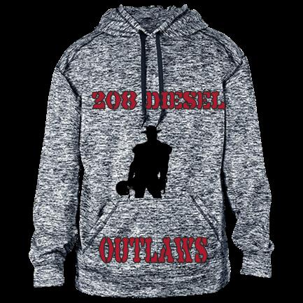 208 DIESEL-OUTLAWS - Custom Heat Pressed Adult Sublimated Hooded Sweatshirt  - 1463