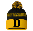 Dickey's Barbecue Pit - Custom Heat Pressed Pom Pom Knit Beanie - SP15 0CF9B2B334F1