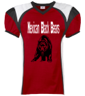 Mexican Blackbears-Jewell-69 - Custom Heat Pressed Youth Red Zone Steelmesh Football Jersey - 1365 D4E8DB0F8D52
