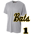 Bats - Custom Screen Printed Youth Baseball Jersey - NB4130 E440C894B15A