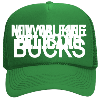 7eaa01d29ed4b NEW YORK-KNICKS-MILWAUKEE-BUCKS - Custom Heat Pressed Neon Trucker Hat