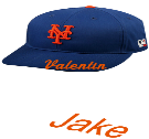 Valentin  - Custom Heat Pressed New York Mets - Official MLB Hat for Little Kids Leagues DD69D3B95458