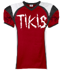 Tikis - Custom Heat Pressed Youth Red Zone Steelmesh Football Jersey - 1365 8B57F14793A5