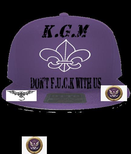 7a09d6c79 KGM Saints Cap - Custom Embroidered Snapback Flat Bill Hat - 125-978