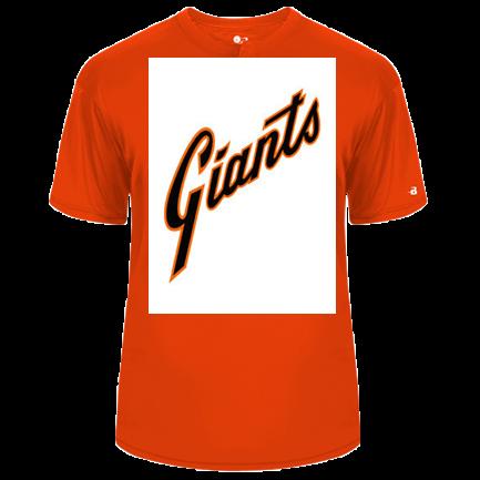 finest selection bfe4b 788ba Orange Giants jersey - Custom Heat Pressed Adult Baseball Jersey - 793000