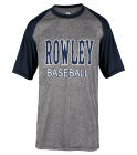Navy Rowle T - Custom Heat Pressed Adult Heathered Sport Tee - 4341 20AD32ADE627