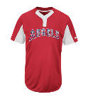 Team Manger - Custom Screen Printed Youth Angels Two-Button Jersey - Angels-MAIY83 7DC9A3126198