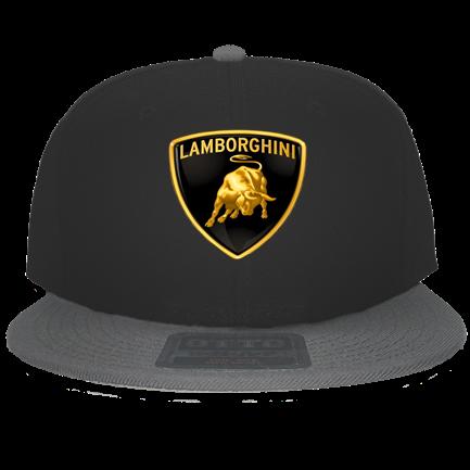 Lamborghini Snapback Grey Black - Custom Heat Pressed Snapback Flat Bill  Hat - 125-978 A7DF503FC321 49694550b8e
