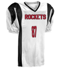 ROCKETS - Custom Heat Pressed DISCONTINUED Adult Twister Steelmesh Football Jersey - Teamwork Athletic-1351 5D0BED656946