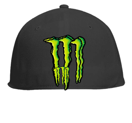 a5a0eb00e428d Monster energy caps - Flat Bill Fitted Hats 123-969 - Custom Heat ...