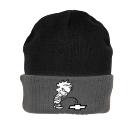 Calvin Pissing on chevy - Custom Screen Printed Knit Two Colored Beanie - R19 8329784B4D2E
