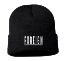 F O R E I G N - Custom Heat Pressed Adult  Beanie - Sp12 F69DD38ABD0D