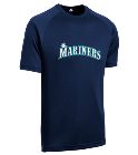 10-10 - Custom Heat Pressed Youth Mariners MLB Replica T-Shirt - 5301 3AEFC1D9F3EC