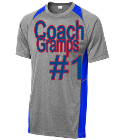 Coach Gramps -#1-Gramps -Gramps ;-#1 - Custom Heat Pressed Sportek Athletic T-shirt - ST361 BC69DCFE00A7