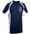 Bulls - Custom Embroidered Adult Line Drive 2-Button Baseball Jersey - 1230P 1B039BEAE36E