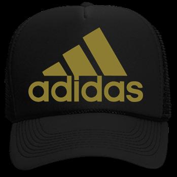 Adidas Gold - Custom Heat Pressed Neon Trucker Hat  a638389ffd5b