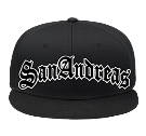 San Andreas - Custom Heat Pressed Snap Back Flat Bill Hat - 125-1038 0C0AD2DA91E7