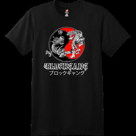 27cae434 BLKGNG BLACK JPN TEE - Custom Heat Pressed Custom Screen Printed Hanes T- Shirt - 4980 S 7507728693C6A