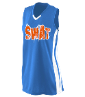 SWAT-27 - Custom Heat Pressed Girls Wicking Mesh Jersey  - 528 3C2BF82B38DB