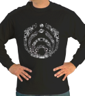 Long-sleeve trippy space - Custom Heat Pressed Wholesale Gildan Longsleeve Shirt 8C2489B48891