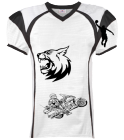 tigers - Custom Heat Pressed Youth Red Zone Steelmesh Football Jersey - 1365 3D276A21F54D