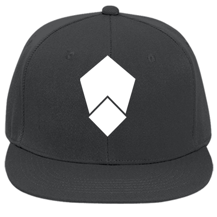 White Icon - Custom Embroidered Flat Bill Fitted Hats 123-969
