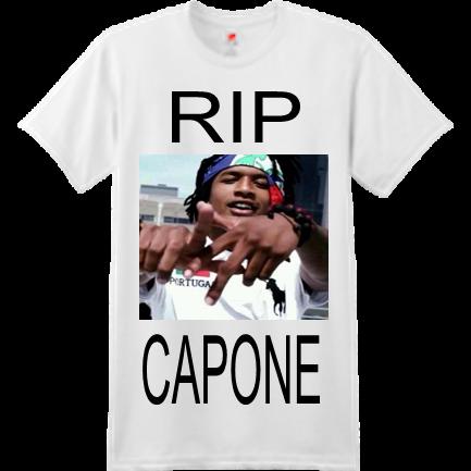 efe41c314 RIP-CAPONE - Custom Heat Pressed Custom Screen Printed Hanes T-Shirt - 4980  S A5894A1EB01AA