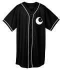 Darkside - Custom Heat Pressed Adult Full Button Wicking Mesh Jersey  - 593 ADCCEDE32711