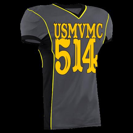 4cb37fca9 514-Eagle Nation-1-4-5-1-4-USMVMC - Custom Heat Pressed Adult Roll Out Football  Jersey - 1375 C2EC66267C2B