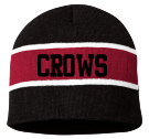 crows-new - Custom Heat Pressed Striped Beanie - SP06 367ECEDA2E4A
