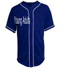 Young  - Custom Heat Pressed Teamwork Athletic Full Button Baseball Jersey - 1860B 9222A71D7093