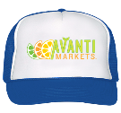 Avanti-trucker-blue - Custom Heat Pressed Trucker Hat 39-169 BEBF0C7443B8