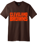 Browns  - Custom Heat Pressed V-Neck Tee DBDABDD190A6