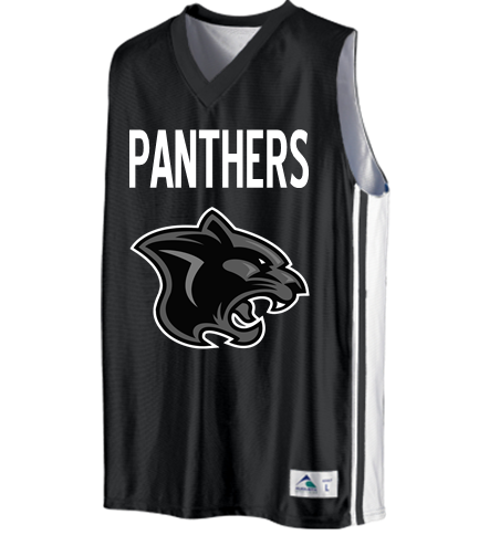 premium selection 93837 bffe2 PANTHERS - Custom Heat Pressed Youth Basketball Jerseys & Uniforms  Reversible - 756 Youth Small