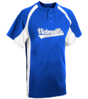 vvall dodgers minor b - Custom Heat Pressed Youth Line Drive 2-Button Baseball Jersey - 1200P 4C59C09230E9