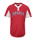 ROCKEY 13 - Custom Heat Pressed Youth Angels Two-Button Jersey - Angels-MAIY83 0B72E28B5744