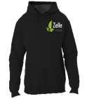 zelle farms Jerzees Sweatshirt black - Custom Heat Pressed Jerzees Sweatshirt 996M 86D5307A1485