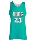 THUNDER-23 - Custom Screen Printed Women's Reversible Jersey -Teamwork Athletic-1442 F0CDC64F315A