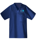 ffac - Custom Heat Pressed Unisex V-Neck Scrubs - 220C 42E307A499A9