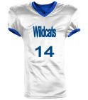 Wildcats-14 - Custom Heat Pressed Reversible Football Jersey Adult -1357 5F21D08E2690