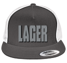 LAGER-LAGER - Custom Heat Pressed Two Color Classic  Trucker Hat  - 6006T 0DB7D5196E5E