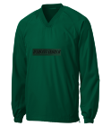 UNDEPLEASUREDMERCH-QUARTER-LS-GREEN Adult V-Neck Raglan Wind Shirt