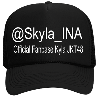 1bf99bf4094 SKYLA-@skyla_INA-Official Fanbase Hasyakyla -Official Fanbase Kyla  JKT48-@Skyla_INA - Custom Heat Pressed Neon Trucker Hat   Neon Snapback 6801