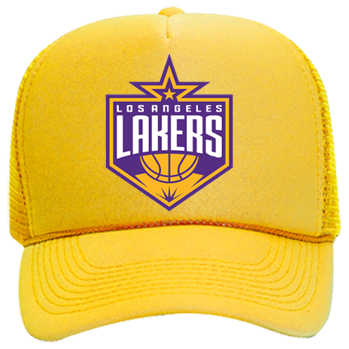 064a0be7 Lakers - Mesh Trucker Hat 32-467 - Custom Embroidered - CustomPlanet.com